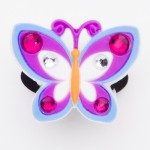 Brilliant Pink/Blue Crystal Butterfly Charm