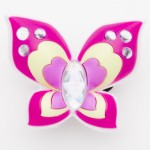 Brilliant Crystal Pink Big Butterfly Charm