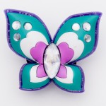 Brilliant Crystal Green Big Butterfly Charm