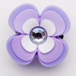 Brilliant Crystal Pink & Purple Flower Charm