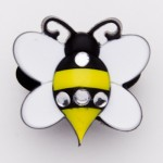 Brilliant Crystal Bumble Bee Charm