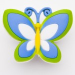 Big Butterfly Green & Blue Charm