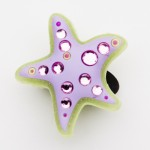Brilliant Crystal Starfish Charm