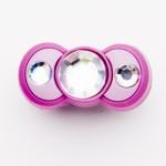 Brilliant Crystal Pink Bow Charm